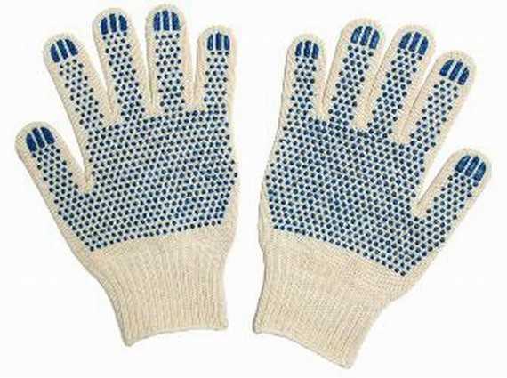Перчатки трикотажные Экстра с ПВХ (точка) 10 класс