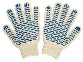 Перчатки трикотажные Экстра с ПВХ (волна) 10 класс