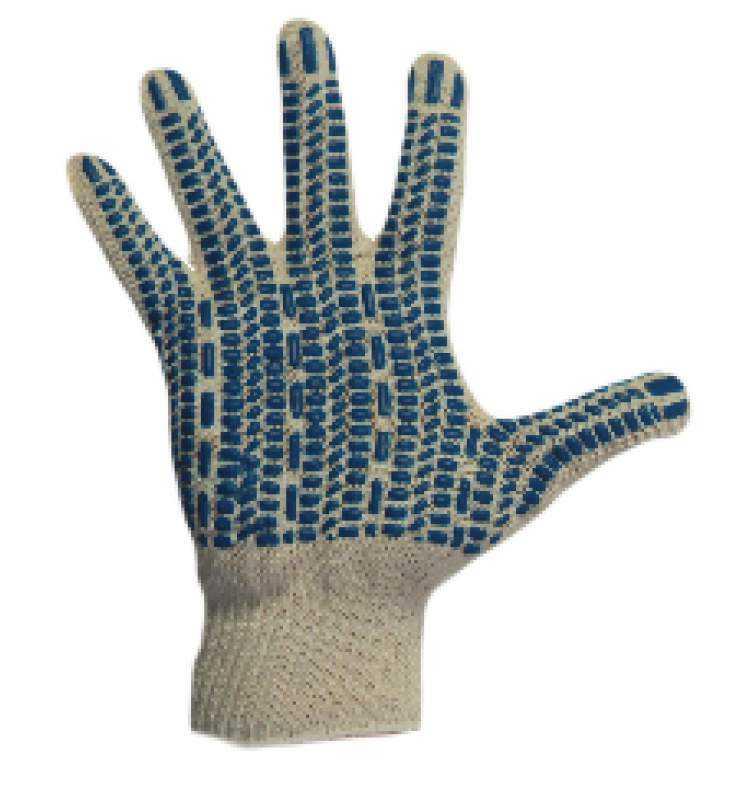 Перчатки трикотажные Стандарт с ПВХ (протектор) 10 класс