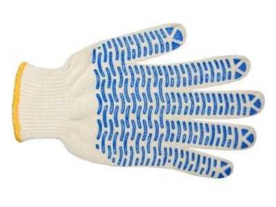 Перчатки трикотажные Стандарт с ПВХ (волна) 10 класс