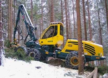 Лесозаготовительная машина харвестер HSM 405H1 6WD