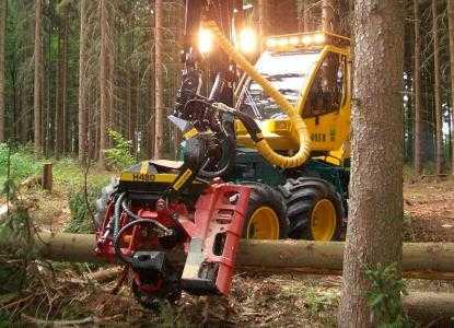 Лесозаготовительная машина харвестер HSM 405H2 6WD