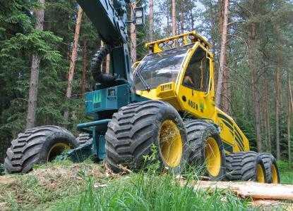 Лесозаготовительная машина харвестер HSM 405H2 8WD