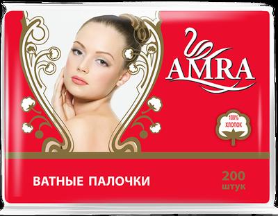 Ватные палочки AMRA в пакете 200 шт