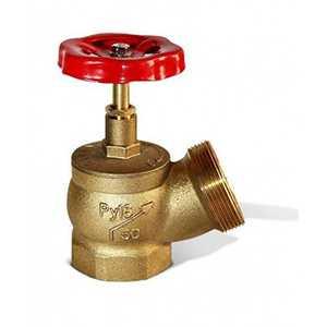 Вентиль (клапан) пожарный латунный угловой ДУ 50