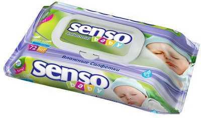 Салфетки влажные SENSO BABY для детей 72 шт