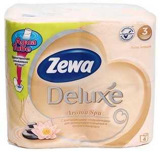 Бумага туалетная Zewa Deluxe Aroma Spa 4 рулона ширина 95 мм