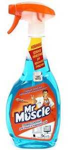 Средство для мытья стекол Mr. Muscle Профессионал для стекол и поверхностей с изопропиловым спиртом 500 мл с распылителем