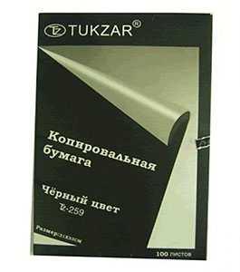 Бумага копировальная черная TUKZAR А4 100л