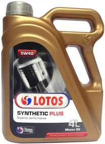 Синтетическое масло LOTOS Synthetic Plus SAE 5W-40