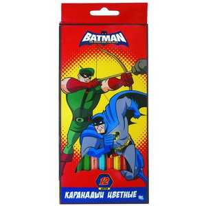 Набор цветных карандашей 12 цветов ACTION! Бетмен