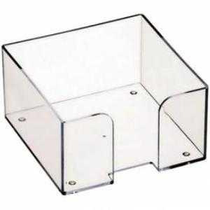 Бокс для бумажного блока пластиковый прозрачный 90*90*50 мм