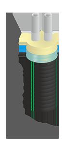 Труба гибкая полимерная изолированная ИЗОПРОФЛЕКС Тандем 32+32/110 - БЕЛЕВРОТРУБПЛАСТ (Беларусь)