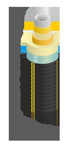 Труба гибкая полимерная изолированная ИЗОПРОФЛЕКС 25/63 - БЕЛЕВРОТРУБПЛАСТ (Беларусь)