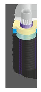 Труба гибкая полимерная изолированная ИЗОПРОФЛЕКС-75А 40/75 - БЕЛЕВРОТРУБПЛАСТ (Беларусь)