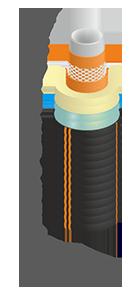 Труба гибкая полимерная изолированная ИЗОПРОФЛЕКС-115А 140/200 - БЕЛЕВРОТРУБПЛАСТ (Беларусь)