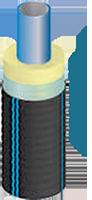 Труба Водовод 90/125 гибкая полимерная водопроводная с теплоизоляцией из пенополиуретана