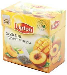 Чай Lipton ароматизированный в пирамидках 36 г Peach Mango черный чай