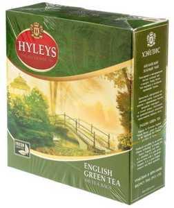 Чай Hyleys 200 г 100 пакетиков «Английский» зеленый чай