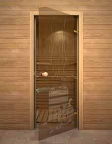 Дверь для сауны БАНЬКА (АКМА)