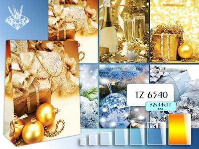 Пакет подарочный НОВОГОДНИЙ TUKZAR 32х44х11см бумажный артикул TZ 6540