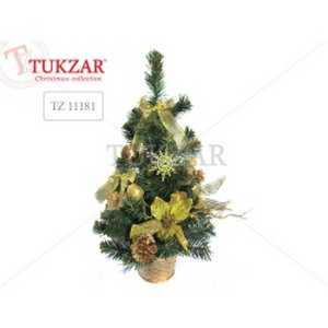 Елка декоративная с золотыми украшениями TUKZAR 50 см артикул TZ 11181