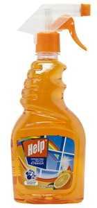 Средство для мытья стекол Help Апельсин 500 мл