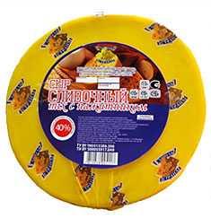 Сыр сычужный твердый «Сливочный mix» с пажитником 40% жирности