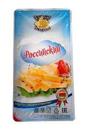 Сыр фасованный Российский новый 150г