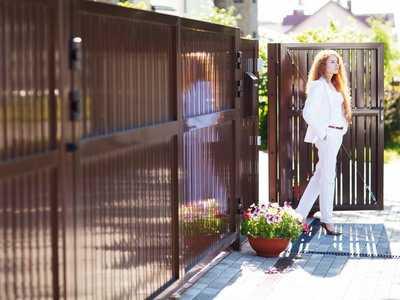 Ворота распашные Alutech Elegant