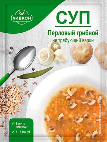 Суп перловый грибной Лидкон 50 г