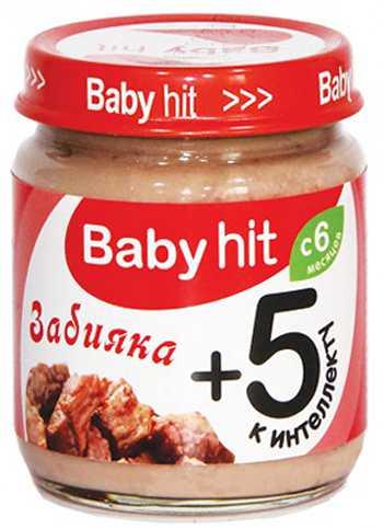 Консервы мясные для детского питания Забияка Babyhit 100 г