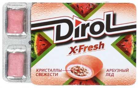 Жевательная резинка Dirol X-Fresh без сахара 16 г Арбузный лед