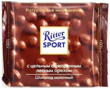 Шоколад Ritter Sport молочный шоколад с цельным лесным орехом 100 г