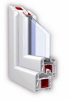 Окна ПВХ профильная система KBE Select 70 мм