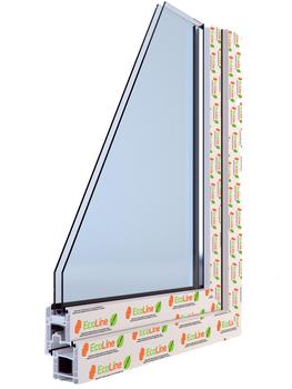 Окна ПВХ профильная система EcoLine Balance 58мм