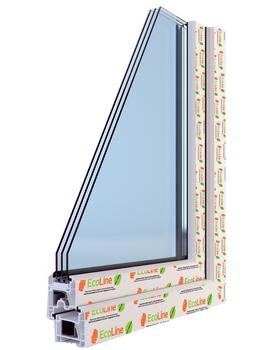 Окна ПВХ профильная система EcoLine Pro 70мм