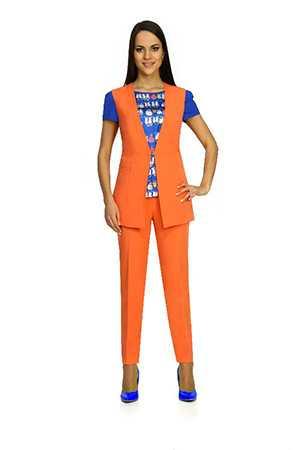 Костюм женский тройка (жакет, блуза, брюки) артикул А-7062