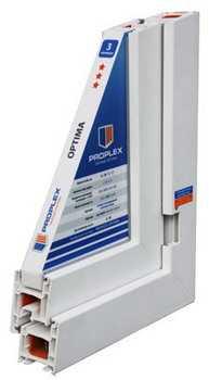 Окна ПВХ профильная система Proplex Optima 1400х1300