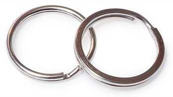 Кольца для ключей стальные никелированные