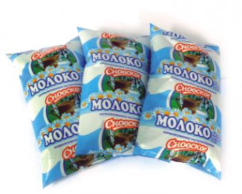 Молоко нормализованное пастеризованное 'Сновское' 3,4% 1 л - СПК Агрокомбинат Снов