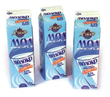 Молоко пастеризованное нормализованное 'Сновское' 3,3% 1 л - СПК Агрокомбинат Снов