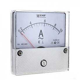 Амперметр AM-A801 аналоговый на панель 80х80 (круглый вырез) 300А трансформаторное подключение EKF PROxima