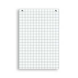 Блок бумаги для флипчартoв 64*96 клетка, 20листов