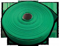 Напорный рукав ПВХ плоской намотки 3' (76мм) утолщенный