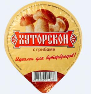 Продукт плавленый Хуторской с грибами 50%, 100 г - Азбука сыра (Беларусь)