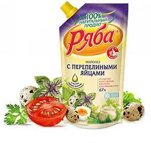 Майонез Ряба с перепелиными яйцами, 67 %, 372 г - НМЖК ОАО (Россия)