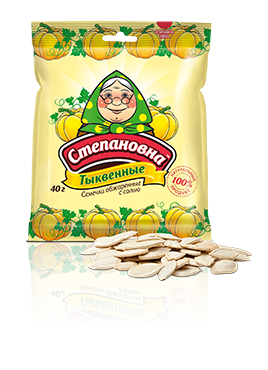 Семена тыквенные обжаренные с солью, ТМ Степановна, 40 г - НМЖК ОАО (Россия)