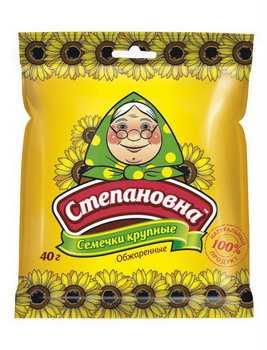 Семена подсолнечника обжаренные, ТМ Степановна, 40 г - НМЖК ОАО (Россия)