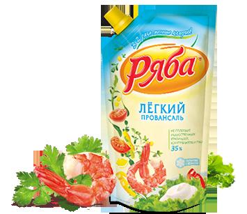 Майонез Ряба Легкий 35% жирности, 200 г - НМЖК ОАО (Россия)